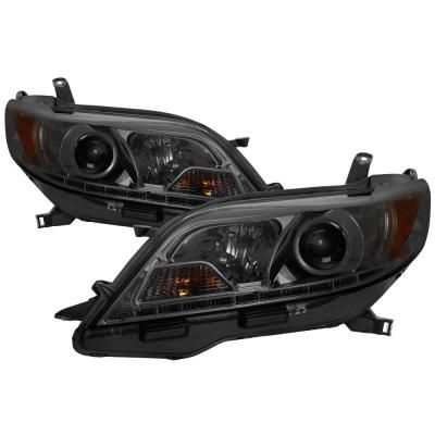Toyota Sienna 11-14 (SE and XE models only)/15-17 (XLE models only) Projector Headlight- Halogen Model Only -DRL LED-Smk