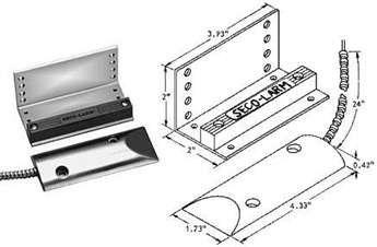 Heavy Duty Magnetic Garage Door Switch N O Contact For N C Circuits Overhead Door Mount Nc Contact Magnet Magnet Mounted Door Switch Overhead Door Mounting