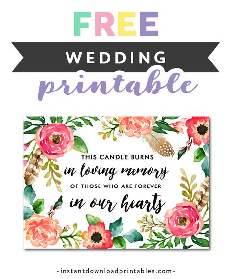 Free Printable Wedding Sign Flowers - Please Sign Our