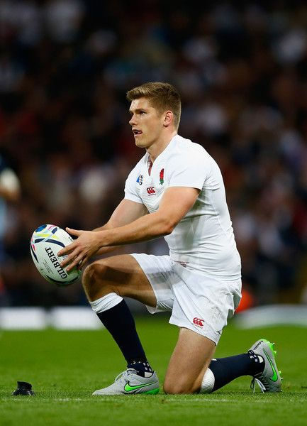 Owen Farrell Photos - Owen Farrell of England in action during the 2015 Rugby World Cup Pool A match between England and Uruguay at Manchester City Stadium on October 2015 in Manchester, United Kingdom. - England v Uruguay - Group A: Rugby World Cup 2015