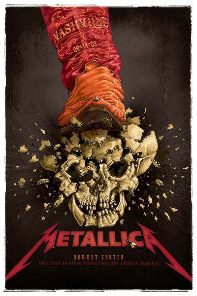 Beautiful Gig Posters | Posters I like | Metallica concert