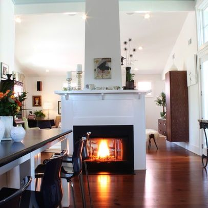See Through Center Of Room Fireplaces Free Standing See Through