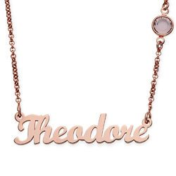 Custom Made Necklaces Full Collection Mynamenecklace Canada With Images Name Necklace Rose Gold Plates Necklace