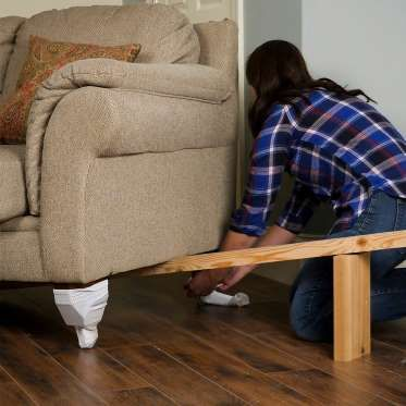 You Can Move Heavy Furniture Yourself Without Scratching Wood Floors First Jack Up The Furniture Scratched Wood Floors Scratched Wood How To Clean Furniture