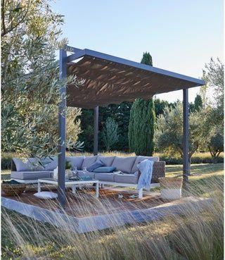 Tonnelle Autoportante Lisboa Aluminium Gris 12 M Leroy Merlin Terrasse Zen Salon De Jardin Salon De Jardin Detente
