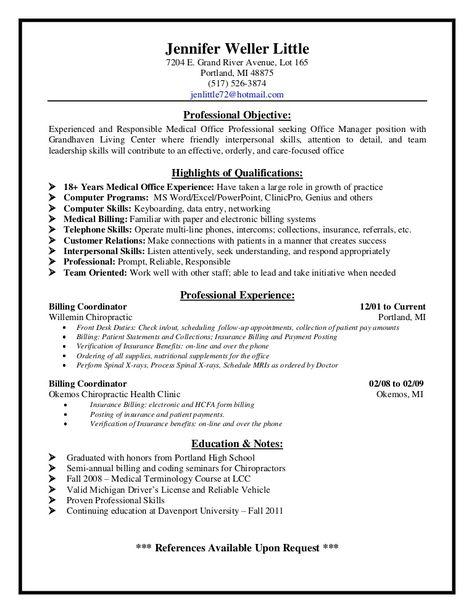 Medical Billing Supervisor Resume Sample - http\/\/resumesdesign - park ranger resume