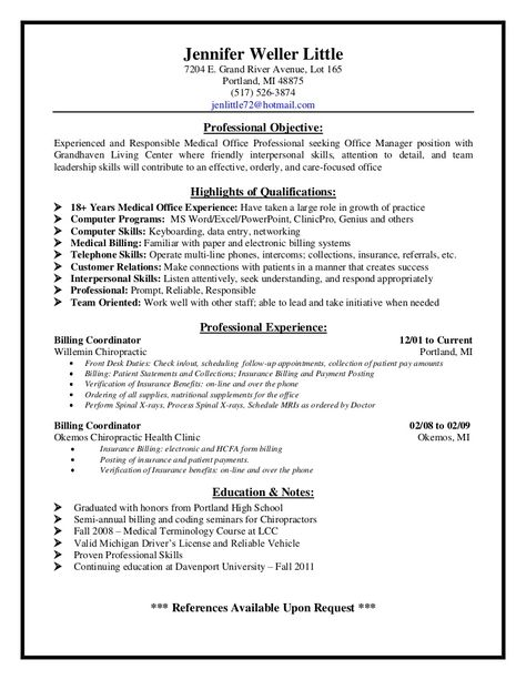 Medical Billing Supervisor Resume Sample - http\/\/resumesdesign - nuclear medicine technologist resume