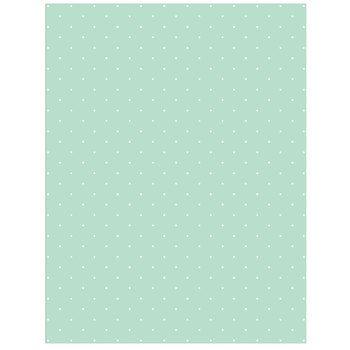 Mint White Airy Polka Dot Scrapbook Paper 8 1 2 X 11