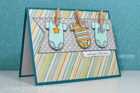 A Vegas Girl at Heart: Welcome, Little One Card.  Super cute!