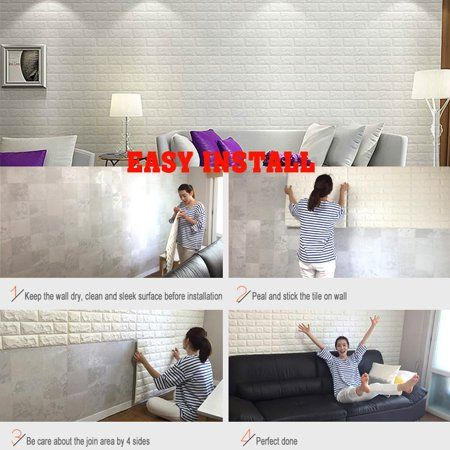 Only 4 32 Buy Wallpaper Brick With Plastic At Gearbest Store With Free Shipping Wall Stickers Brick Brick Wall Decor Brick Wall Wallpaper