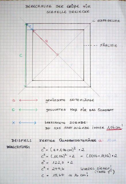 Hier Mochte Ich Einige Methoden Vorstellen Wie Man Dreiecke Mit Sog Sandwich Methoden Ein Bisschen Schneller Dreieck Patchwork Anleitung Dreieck Berechnen