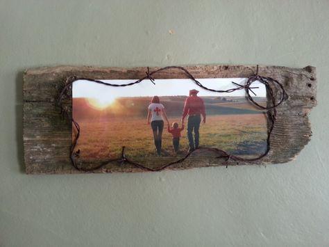 photo on old barn wood