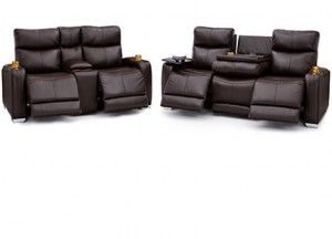 Seatcraft Tiberius Leather Sofa Loveseat Acvariu