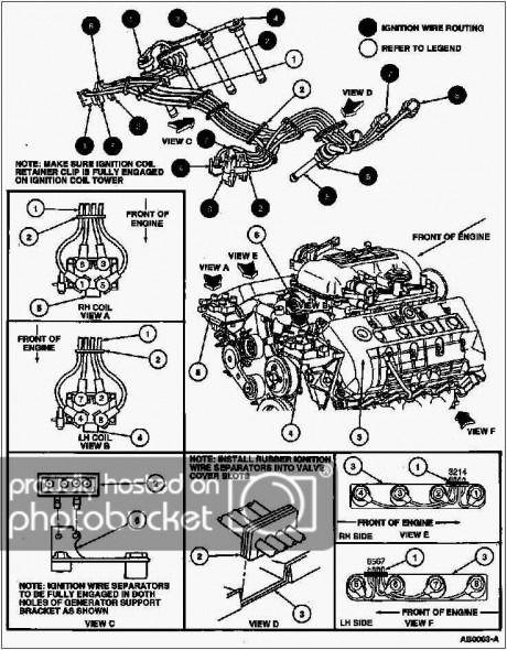 v6 mustang spark plug wire diagram