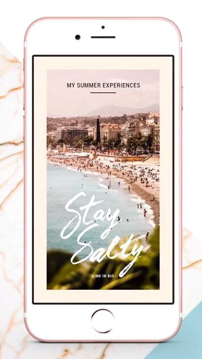 Instagram video story templates for summer