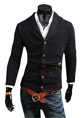 COCO clothing Cardigan Hombre Chaquetas Su/éter Cazadora Casual Prendas de Punto Outwear Caballero Jers/éis Slim