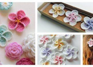 Crochet hawaiian plumeria flower with pattern crochet crochet