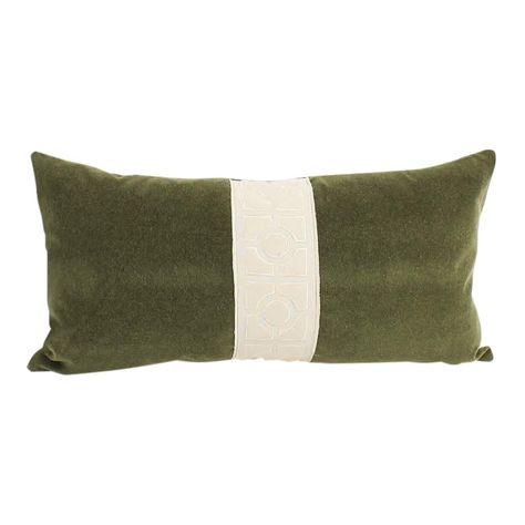 Decorative lumbar support pillow, Olive