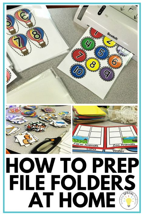 to Prep File Folder Tasks at Home! How to Prep File Folder Tasks at Home!, How to Prep File Folder Tasks at Home! File Folder Activities, File Folder Games, File Folders, Toddler Learning Activities, Preschool Lessons, Fun Learning, Preschool Activities, Kid Activites, Life Skills Activities