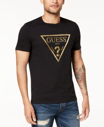 e64f10153 Guess Men's Graphic-Print T-Shirt - Black M | Products in 2019 | Guess  clothing, T shirt, Graphic prints