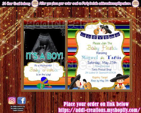 Ideas Baby Shower Mexicano.Baby Shower Fiesta Invitations Customized Item Fiesta Baby