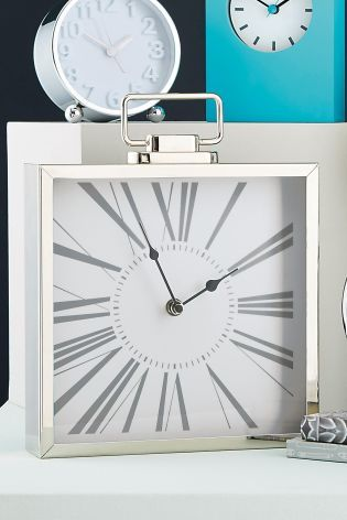 Premium Chrome Mantle Clock Home
