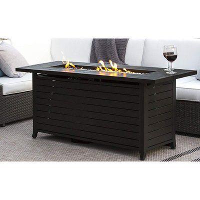 Az Patio Heaters Outdoor Steel Propane Fire Pit Table Reviews Wayfair Rectangular Gas Fire Pit Fire Pit Table Gas Fire Pit Table