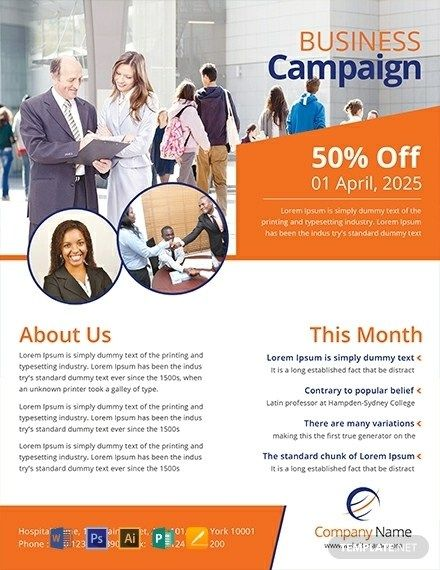 Free Multipurpose Campaign Flyer Template Word Psd Flyer Template Flyer Flyer Printing