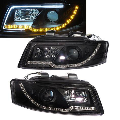 A4 S4 2001 2004 4d B6 8e Projector Led R8 Headlight W Amber Black For Audi Audi Audi A4 Headlights