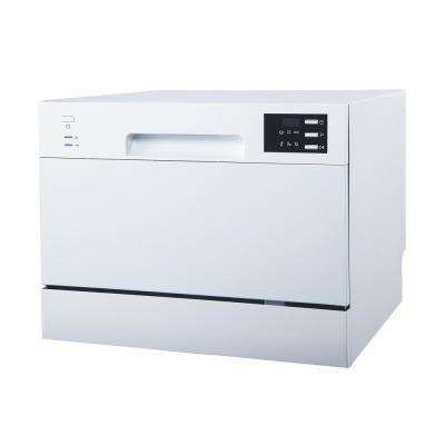 Portable Countertop Dishwasher In White With Delay Start Led 6