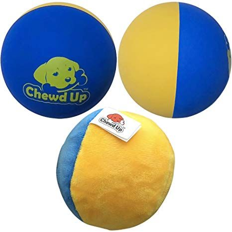 Chewdup Dog Balls 3 Bouncy Natural Rubber And Reinforced Plush 3 Pack 2 Natural Rubber Balls For Outdoor Use 1 Plush Ball Dog Ball Bouncy Natural Rubber
