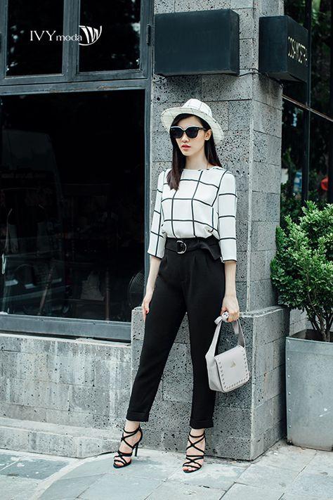 #stripes  #pants #shirts #handbag #black #white #ivymoda #fashion #trend #autumn