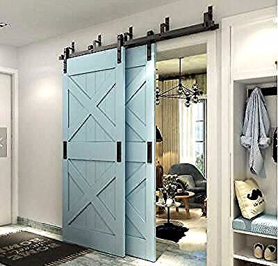 Pin By Johanna Denesik On Portes Et Quincaillerie De Porte In 2020 Sliding Doors Interior Bypass Barn Door Bypass Barn Door Hardware