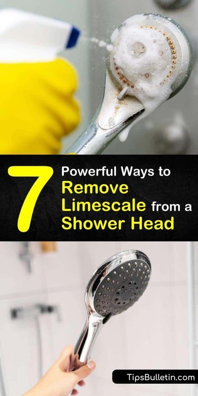 7 Powerful Ways To Remove Limescale From A Shower Head In 2021 Shower Heads Shower Head Cleaner Baking Soda Cleaning