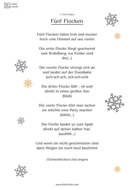 Schneeflocken-Fingerspiel für Kita & Krippe  Sprachförderung mit Spaß  Shop