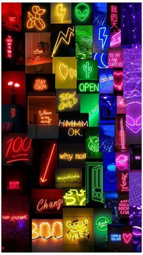 Neon rainbow aesthetic phone wallpaper #neon #backgrounds #glow #rainbow #colors #neonbackgroundsglowrainbowcolors