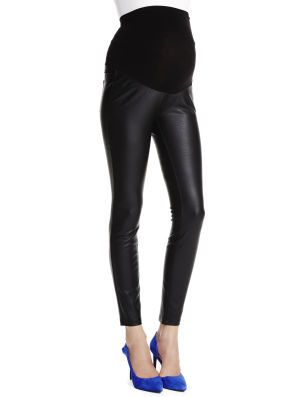 Jessica Simpson Secret Fit Belly Faux Leather Skinny Leg Maternity Leggings available at Motherhood Maternity