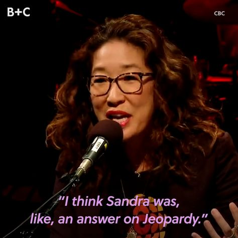 We honestly can't get enough of Sandra Oh. 😊💕🙌