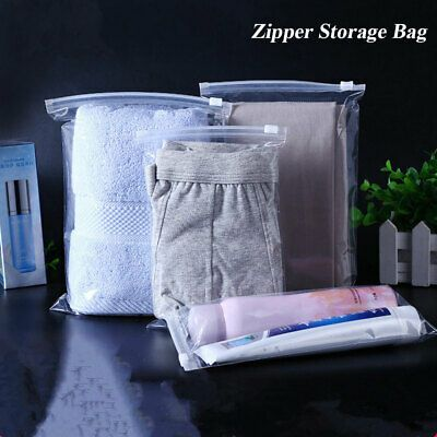 Advertisement Self Seal Waterproof Zipper Lock Plastic Bag Clear