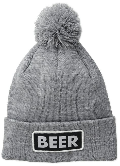 ... detailed pictures 1581d fd755 Mens Vice Grey Beer Beanie - Heather Grey  (Beer) ... bcf25f65d49