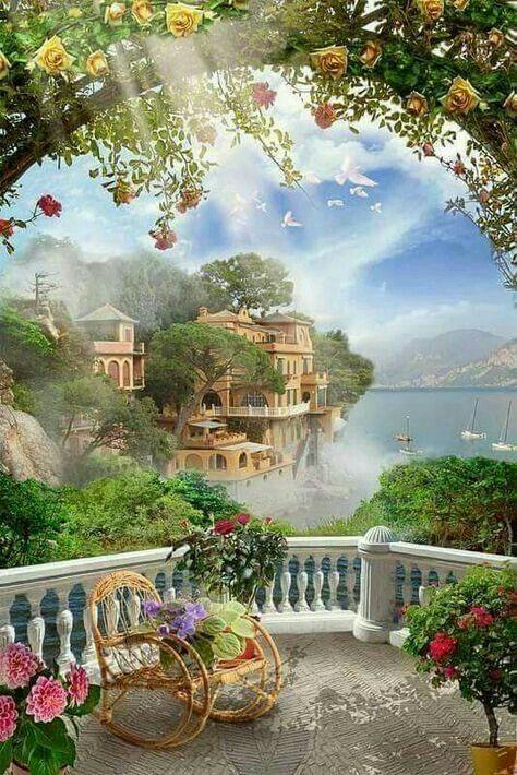 Beautiful Landscape Acrylic Painting Slideshow Version Acrylic Painting Landscape Paintings Canvas Painting Diy