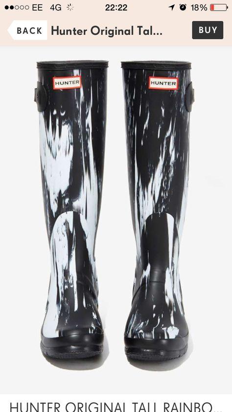 Marbled Hunter Wellies Boots Hunter Original Tall Rain Boots