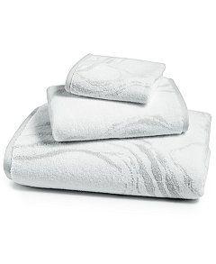 Hotel Collection Turkish Cotton Fashion Marble Bath Towel
