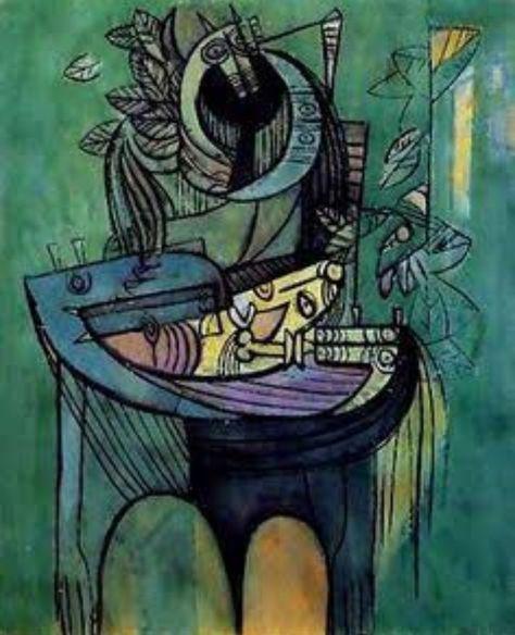 Pintor cubano Wilfredo Lam (con imágenes) | Producción artística ...