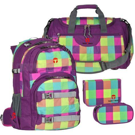 TAKE IT EASY Schulrucksack SET 4-tlg Schulranzen Rucksack SOHO OSLO Flex