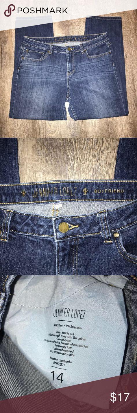 Jennifer Lopez Boyfriend Jeans 14 Jennifer Lopez Boyfriend Jeans In Excellent Size 14 Waist 34 Jennifer Lopez Jeans Skinny Jennifer Lopez Boyfriend Jeans Boyfriend