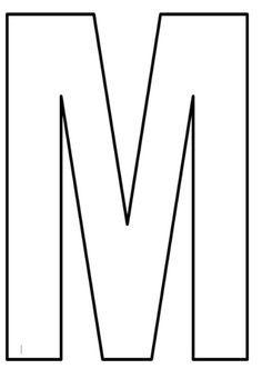 Moldes De Letras Grandes Imprima Aqui Molde Letra M Molde De