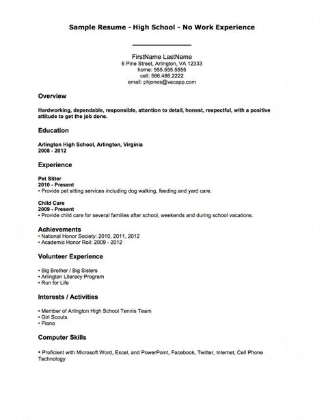 Resume Examples After First Job After Examples First Resume Resumeexamples First Job Resume Job Resume Examples Student Resume Template