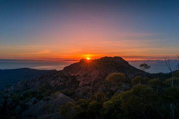 Mountain Sunrise Landscape Mountain Peak With Sun Raising Above The Rock Affiliate Landscape Sunrise Mountain P In 2020 Sunrise Landscape Sunrise Landscape