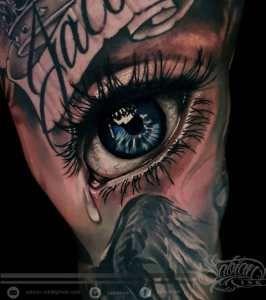 Realistic Eye Tattoo By Denario At Sabian Ink Bali Eye Tattoo